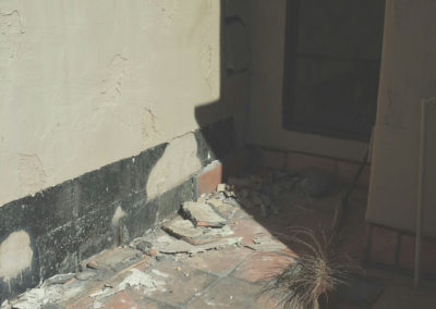 Walkway Tile Repair - Before