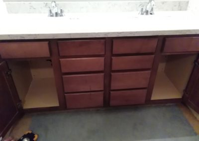 Two Sink Vanity Install
